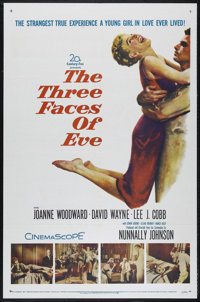 "The Three Faces of Eve (20th Century Fox, 1957). One Sheet (27"" X 41""). Drama. Directed by Nunnally Johnson. S..."