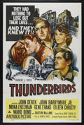 "Movie Posters:War, Thunderbirds (Republic, 1952). One Sheet (27"" X 41""). War. Directedby John H. Auer. Starring John Derek, John Drew Barrymor..."