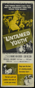 """Movie Posters:Cult Classic, Untamed Youth (Warner Brothers, 1957). Insert (14"""" X 36""""). Crime.Directed by Howard W. Koch. Starring Mamie van Doren, Lori..."""
