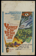 "Movie Posters:Adventure, Voyage to the Bottom of the Sea (20th Century Fox, 1961). WindowCard (14"" X 22""). Science Fiction. Directed by Irwin Allen...."