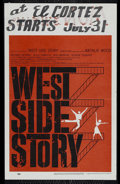 """Movie Posters:Musical, West Side Story (United Artists, 1961). Window Card (14"""" X 22""""). Musical. Directed by Robert Wise. Starring Natalie Wood, Ri..."""