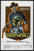 "Movie Posters:Science Fiction, Westworld (MGM, 1973). One Sheet (27"" X 41""). Science Fiction.Directed by Michael Crichton. Starring Richard Benjamin, Yul ..."