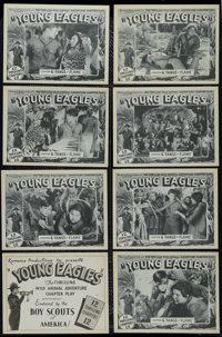 """Young Eagles: Chapter 6 """"Fangs of Flame"""" (Romance Productions, 1934). Lobby Card Set of 8 (11"""" X 14""""..."""