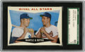Baseball Cards:Singles (1960-1969), 1960 Topps Rival All-Stars Mantle & Boyer #160 SGC EX 60. Greathigh grade card showcases Mickey Mantle and Ken Boyer, two ...