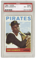 Baseball Cards:Singles (1960-1969), 1964 Topps Bob Clemente #440 PSA EX-MT 6. In one of the more tragicstories in recent sports history, Roberto Clemente met ...
