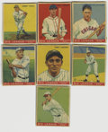 Baseball Cards:Lots, 1933 World Wide Gum (Canadian Goudey, V353) Baseball Group Lot of24. Group presents as EX/MT, however, none of the cards ca...