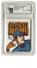 Baseball Collectibles:Others, 1972 Topps Baseball Wax Pack GAI NM+ 7.5. Great sealed and graded example of an unopened pack from Topps' 1972 issue. Col...