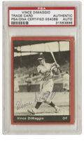 Autographs:Sports Cards, Vince DiMaggio Signed Card PSA Authentic. The older brother of Domand Joe, Vince DiMaggio broke into the majors in 1937 wi...