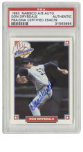 Autographs:Sports Cards, 1993 Nabisco All-Star Autographs Don Drysdale Signed Card PSA Authentic. In 1993 Nabisco did a promotion in which signed ca...