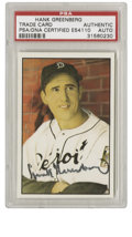 Autographs:Sports Cards, Hank Greenberg Signed Card PSA Authentic. Another impressive signedcard courtesy of the HOFer Hank Greenberg. Beautiful c...