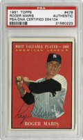 Autographs:Sports Cards, 1961 Topps Roger Maris #478 Signed Card PSA Authentic. Adding tothe impressive collection of Maris signed cards that we of...