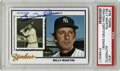 Autographs:Sports Cards, 1978 Topps Billy Martin #721 Signed Card PSA Authentic. This cardfrom the 1978 Topps issue features images of Martin both ...