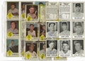 Autographs:Sports Cards, 1960-63 Signed Baseball Cards Lot of 46, Unsigned Lot of 73. Lotfeatures 46 signed cards from the 1960 Leaf and 1963 Fleer...