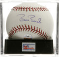 Autographs:Baseballs, Barry Bonds Single Signed Baseball, PSA Gem Mint 10. Direct fromBonds' personal marketing company, with his holographic au...