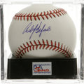 Autographs:Baseballs, Carlos Delgado Single Signed Baseball, PSA Mint+ 9.5. A fine sweetspot signature from the All-Star first baseman. Ball ha...
