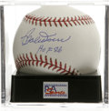 "Autographs:Baseballs, Bobby Doerr ""HOF 86"" Single Signed Baseball, PSA Mint+ 9.5. TheBoston Red Sox Hall of Famer makes note of his induction da..."