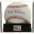 Autographs:Baseballs, Bob Gibson Single Signed Baseball, PSA Mint+ 9.5. The mostdominating pitcher of his era. Ball has been encapsulated by PS...