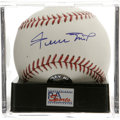 Autographs:Baseballs, Willie Mays Single Signed Baseball, PSA Mint+ 9.5. The Say Hey Kidgives us this OML ball adorned with an excellent sweet s...