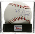 "Autographs:Baseballs, Tony Perez ""HOF 2000"" Single Signed Baseball, PSA Mint+ 9.5. Anintegral part of the famed Big Red Machine that brought Wor..."
