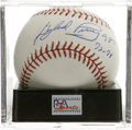 "Autographs:Baseballs, Gaylord Perry ""Cy Young 72-78"" Single Signed Baseball, PSA Mint 9.The last of the great spitballers, Perry makes note of h..."