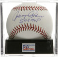 "Autographs:Baseballs, Johnny Podres ""55 WS MVP"" Single Signed Baseball, PSA Mint+ 9.5.The Brooklyn Dodgers hero who pitched a Game Seven shutout..."