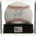 Autographs:Baseballs, Albert Pujols Single Signed Baseball, PSA Mint 9. The hottest name in baseball today. Ball has been encapsulated by PSA/DN...
