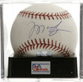 Autographs:Baseballs, Manny Ramirez Single Signed Baseball, PSA Mint+ 9.5. The superstarslugger of the Boston Red Sox offers his splendid sweet ...