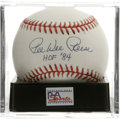 "Autographs:Baseballs, Pee Wee Reese ""HOF 84"" Single Signed Baseball, PSA Mint 9. The captain of the Brooklyn Dodgers adds the date of his Coopers..."