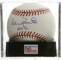 "Autographs:Baseballs, Robin Roberts ""HOF 76"" Single Signed Baseball, PSA Mint+ 9.5. ONL(Coleman) ball offers a pristine sweet spot signature fro..."