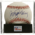 Autographs:Baseballs, Ryne Sandberg Single Signed Baseball, PSA Mint 9. The Hall of FameChicago Cubs infielder applies his superb sweet spot sig...