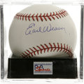 Autographs:Baseballs, Earl Weaver Single Signed Baseball, PSA Mint+ 9.5. One ofBaltimore's favorite sports stars, this Hall of Fame managerbrou...