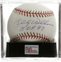 """Autographs:Baseballs, Billy Williams """"HOF 87"""" Single Signed Baseball, PSA Mint+ 9.5. The1961 Rookie of the Year makes note of the date of his Ha..."""