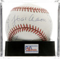 Autographs:Baseballs, 500 Home Run Club Baseball Signed by 9, PSA Mint 9. The 500 homerun mark has traditionally been thought of as a milestone ...