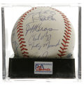 Autographs:Baseballs, 1988 USA Olympic Team Signed Baseball, PSA Mint 9. The USA OlympicBaseball team traveled to Seoul in 1988 with one thing i...