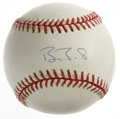 Autographs:Baseballs, Barry Bonds Single Signed Baseball. ONL (White) ball sports aperfect blue ink sweet spot signature. Poised on the brink of...