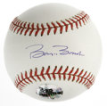 Autographs:Baseballs, Barry Bonds Single Signed Baseball. Immaculately clean OML baseballhas been signed on the sweet spot with a perfect blue i...