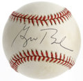 Autographs:Baseballs, George W. Bush Single Signed Baseball. Shortly after becoming Governor of the State of Texas in 1995, President-to-be Georg...