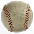 Autographs:Baseballs, Circa 1957 Ty Cobb Signed Baseball. What's a young baseball fansupposed to do? The opportunity is nigh to capture a Ty Co...