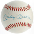 Autographs:Baseballs, Mickey Mantle Single Signed Baseball. Courtesy of one of the mostrevered pinstripers to ever play the game, we have a blue...
