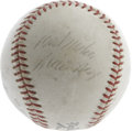 "Autographs:Baseballs, 1960's Willie Mays Single Signed Baseball. While there is certainlyno shortage of ""modern"" singles from this legend of the..."