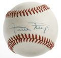Autographs:Baseballs, Willie Mays Single Signed Baseball. Mays has applied his famoussignature to the sweet spot of this ONL (Giamatti) baseball...