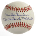 "Autographs:Baseballs, Duke Snider ""The Duke of Flatbush"" Single Signed Baseball.Exceptional blue ink makes a great example of the marvelous penm..."