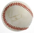 Autographs:Baseballs, George Steinbrenner Single Signed Baseball. Controversial New YorkYankees owner George Steinbrenner offers this side panel...