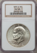 Eisenhower Dollars: , 1972-S $1 Silver MS68 NGC. NGC Census: (403/4). PCGS Population (1606/18). Mintage: 2,193,056. Numismedia Wsl. Price for pr...