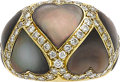 Estate Jewelry:Rings, Mother-of-Pearl, Diamond, Gold Ring. ...