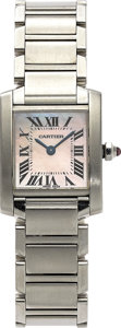 Estate Jewelry:Watches, Cartier Lady's Stainless Steel Tank Francaise Wristwatch. ...