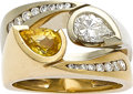 Estate Jewelry:Rings, Diamond, Sapphire, Gold Rings, Cornelis Hollander. ... (Total: 2Items)