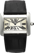 Estate Jewelry:Watches, Cartier Gentleman's Stainless Steel Divan Wristwatch. ...