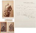 Photography:CDVs, Union General William S. Rosencrans: Two Cartes de Visite, One cabinet Card, One Autograph Letter Signed, and One Cu...