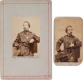 Photography:CDVs, Two Union General Frank Wheaton Cartes de Visite (One Signed).... (Total: 2 )